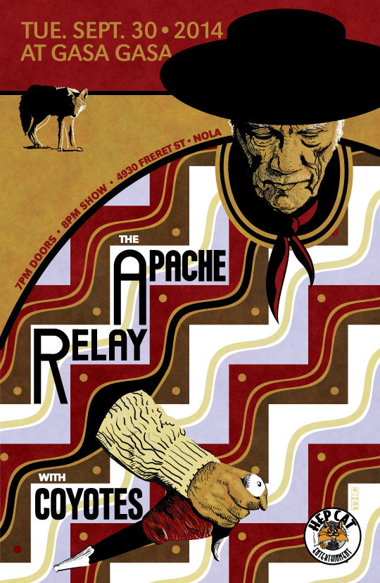 Apache Relay with Coyotes.  September 30, 2014 at Tipitina's